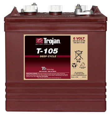 Lot of 6 Trojan T-105 6V Golf cart batteries Reviews