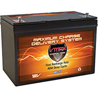VMAX MR127 AGM Batteries For Trolling Motor