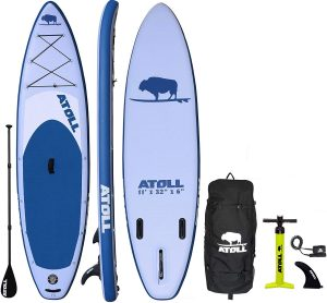 Atoll 11' Foot Inflatable Fishing Paddle Board