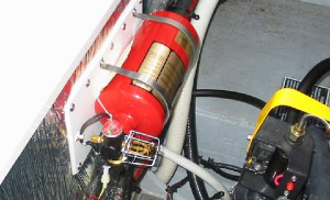 Fire Extinguisher On A Boat