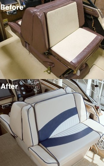 cost to reupholster boat