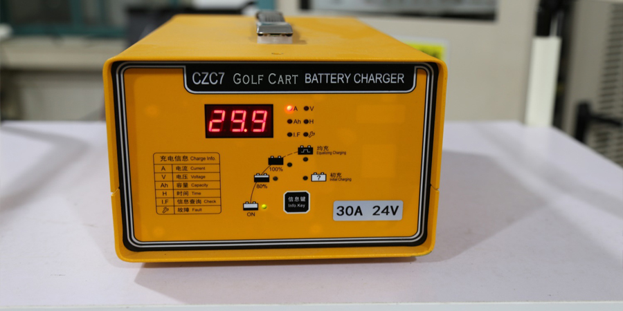 High-Frequency Charger golf cart